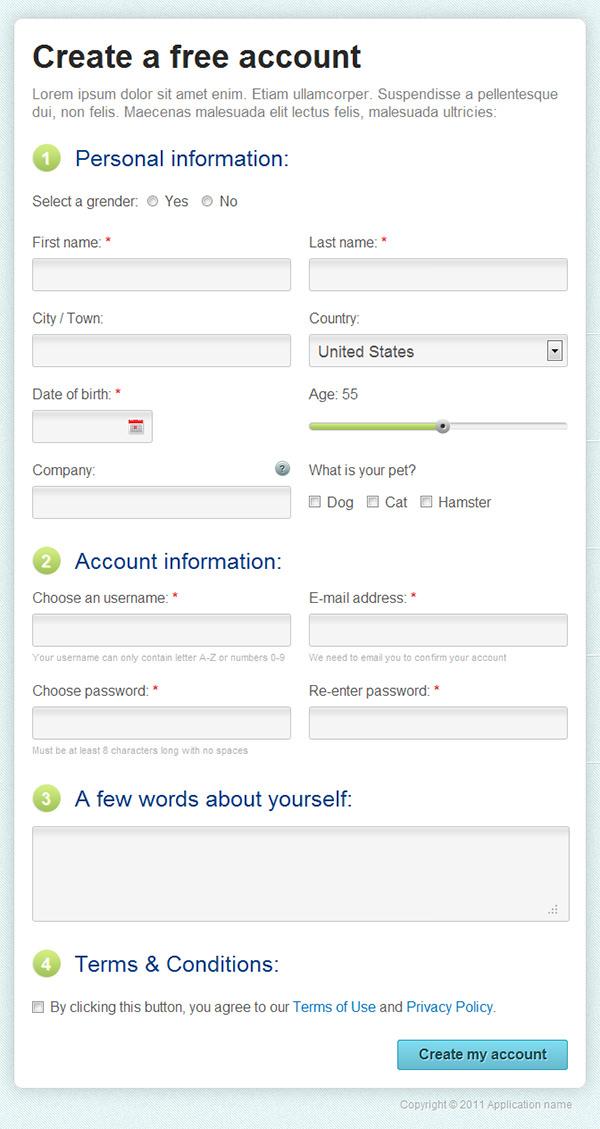 Biodata Form Using Css - bio data form