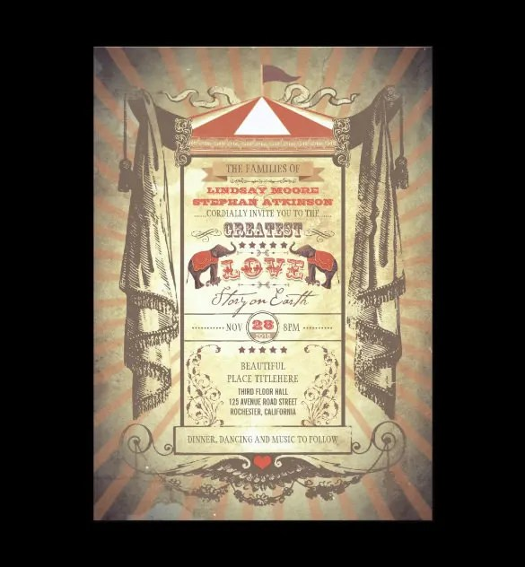 25+ Circus Party Invitation Templates - JPG, PSD Free  Premium