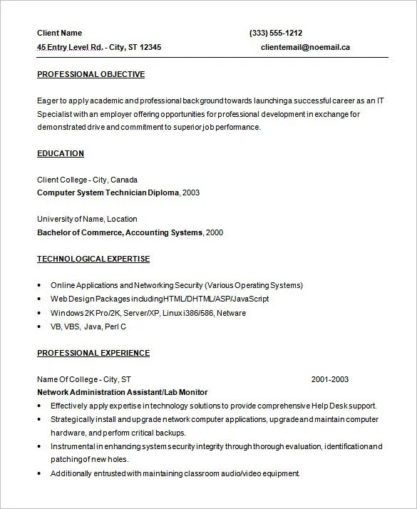 Programmer Resume Template \u2013 8+ Free Samples, Examples, Format