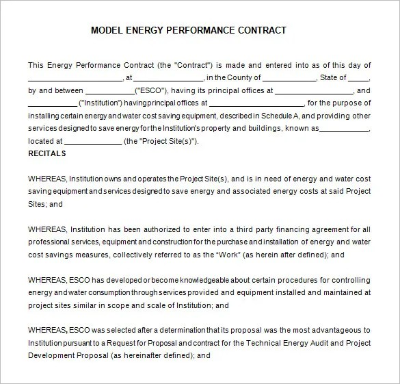 12+ Performance Contract Templates - Free Word, PDF Documents