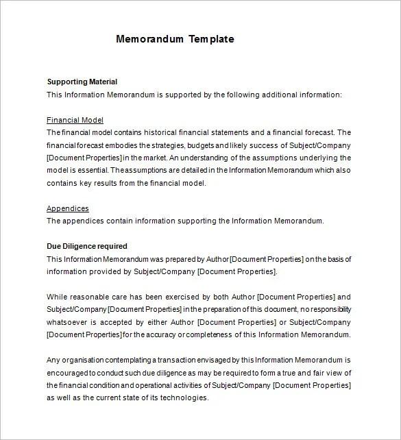 confidential information memorandum template - Onwebioinnovate - confidential memo template