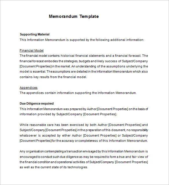 memorandum layout example