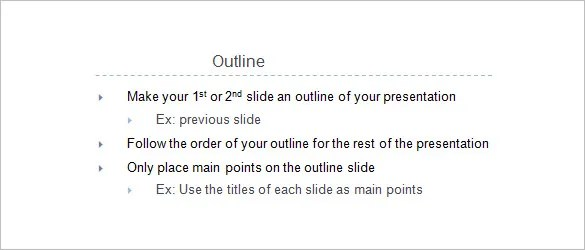 9+ Presentation Outline Templates Free  Premium Templates
