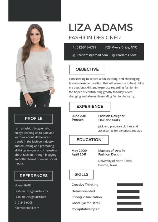 summary of qualifications resume for fashion designer