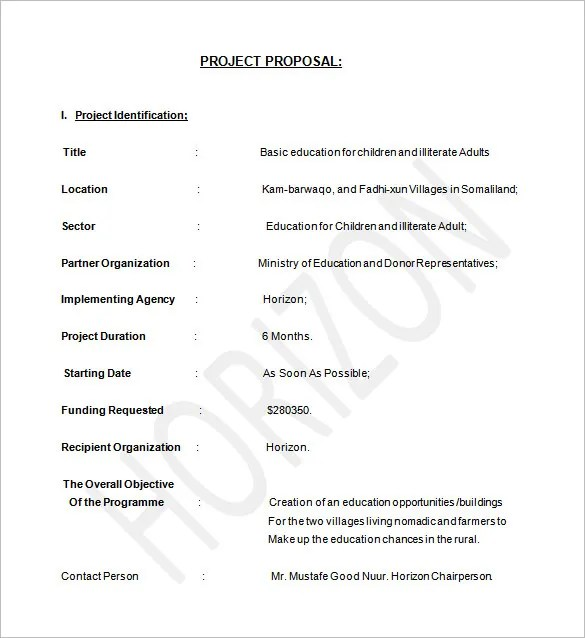 Project Proposal Template - 56+ Free Word, PPT, PDF Documents