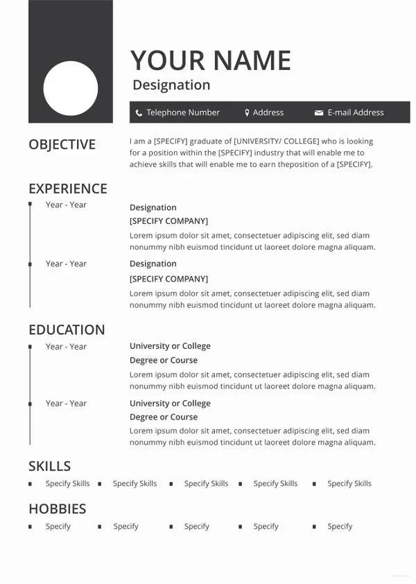 46+ Blank Resume Templates - DOC, PDF Free  Premium Templates