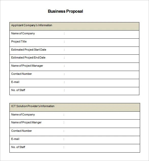 Business Proposal Template - 39+ Free Word, PDF documents Download