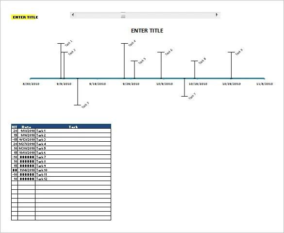 8+ Calendar Timeline Templates \u2013 Free Sample, Example, Format - template timeline excel