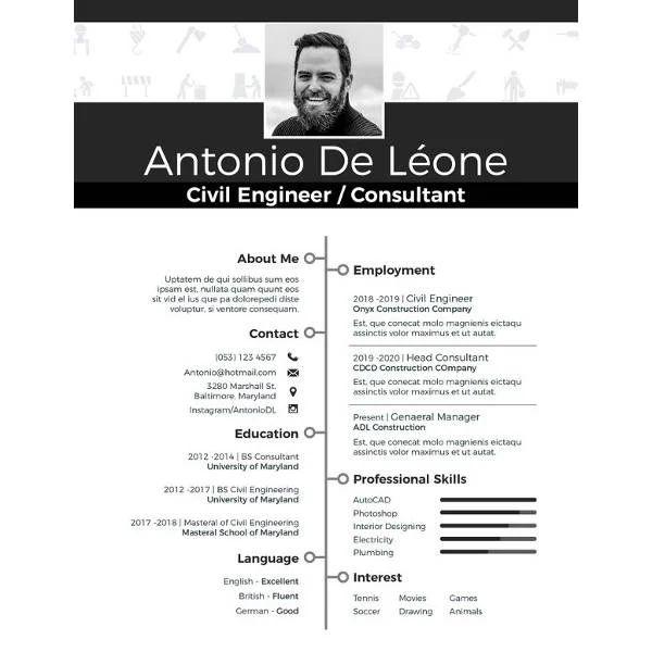 resume engineering template