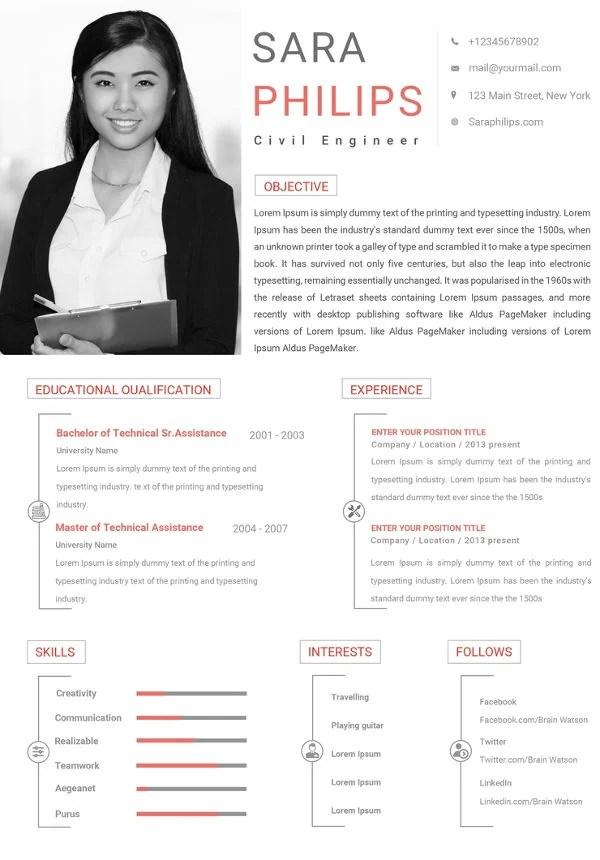 20+ Civil Engineer Resume Templates - PDF, DOC Free  Premium