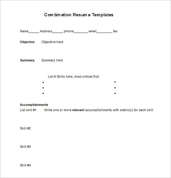 Combination Resume Template \u2013 6+ Free Samples, Examples, Format - examples of combination resumes