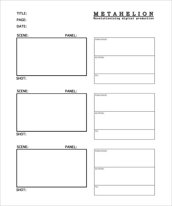 commercial storyboard template - Doritmercatodos - sample video storyboard template