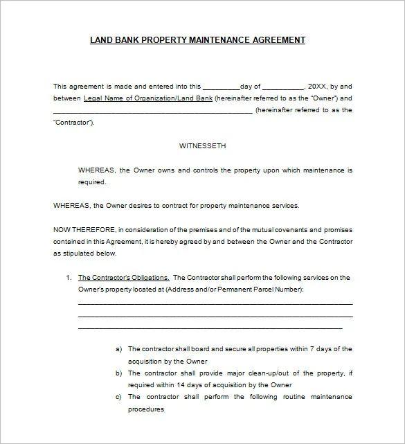 hvac service contract template