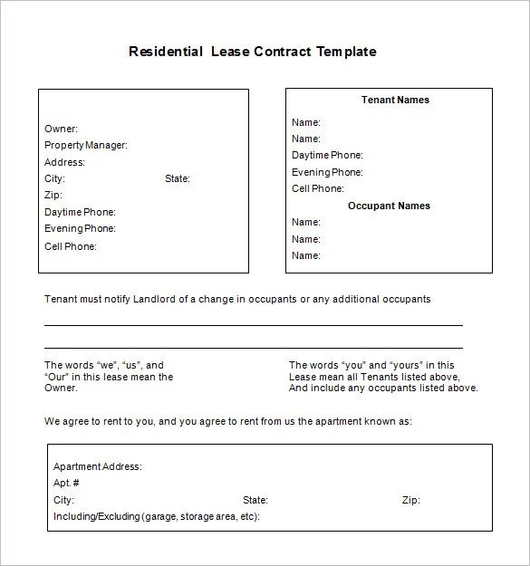 Doc7731000 Free Lease Contract Free Lease Rental Agreement – Free Lease Contract