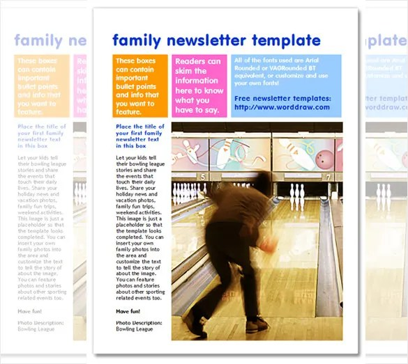 7+ Family Newsletter Templates \u2013 Free Word Documents Download - Newsletter Templates Free Word