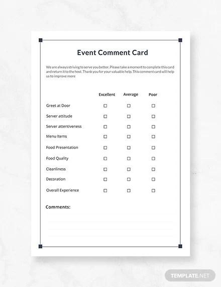 19+ Comment Card Templates - PSD, AI, EPS Free  Premium Templates