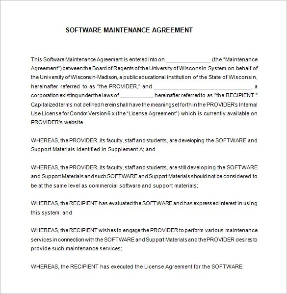 7+ IT Support Contract Templates u2013 Free Word, PDF Documents - it service agreement template