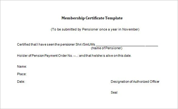 membership certificate template word - Eczasolinf - Certification Document Template