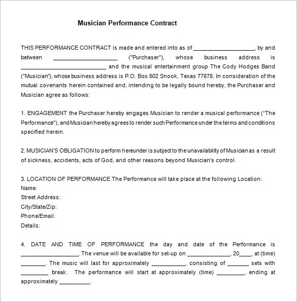 12+ Performance Contract Templates - Free Word, PDF Documents - performance contract templates