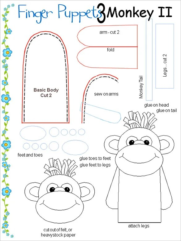 11+ Finger Puppet Templates \u2013 Free PDF Documents Download! Free
