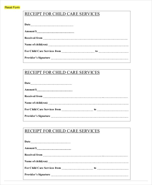 Receipt Template - 122+ Free Printable Word, Excel, AI, PDF Format - free reciepts