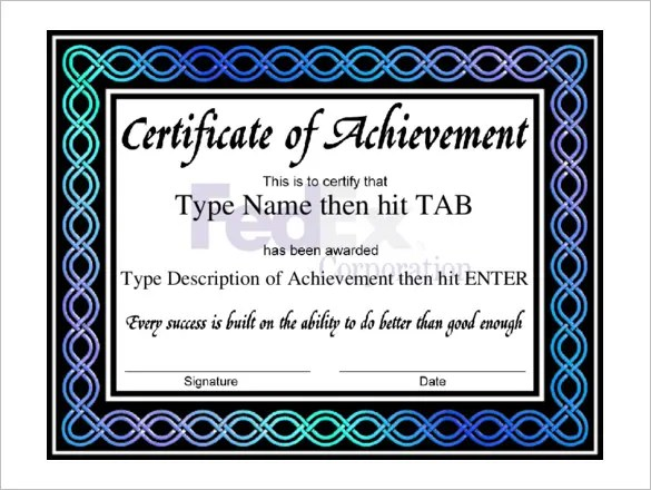 Professional Certificate Template - 29+ Free Word Format Download