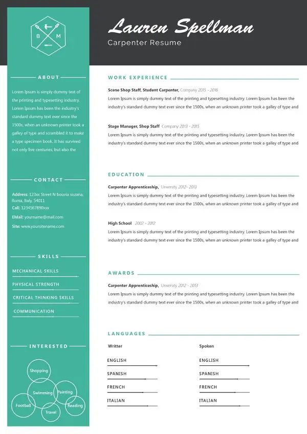 free sample templates for resume