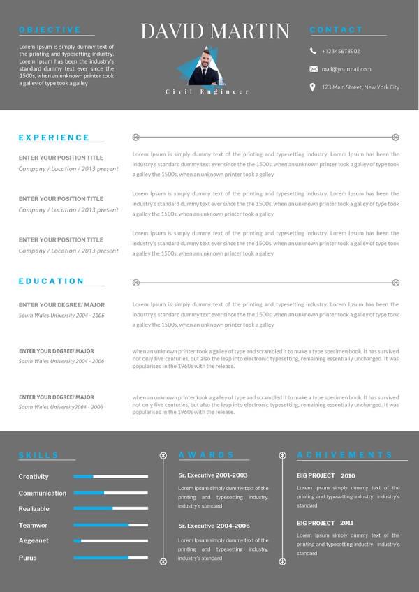 13+ Civil Engineer Resume Templates - PDF, DOC Free  Premium