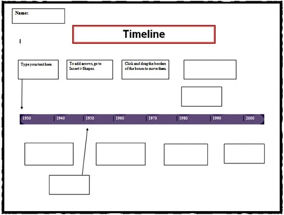 ... Timeline Template For Kids My Life Timeline Activity For Kids   Sample  Timeline For Students ...