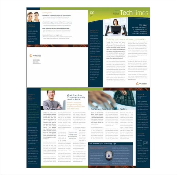 business newsletter – Corporate Newsletter Template