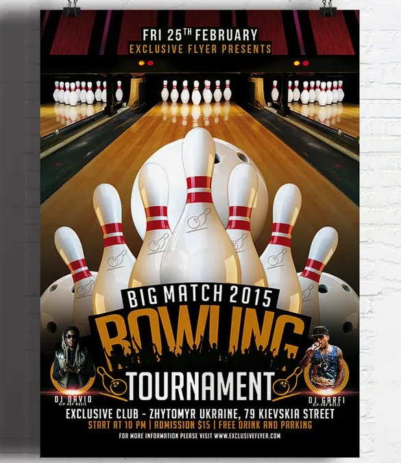 25+ Outstanding Bowling Invitation Templates  Designs! Free