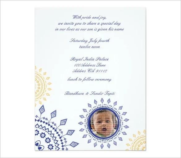 37+ Naming Ceremony Invitations u2013 Free PSD, PDF Format Download - birthday invitation letter sample
