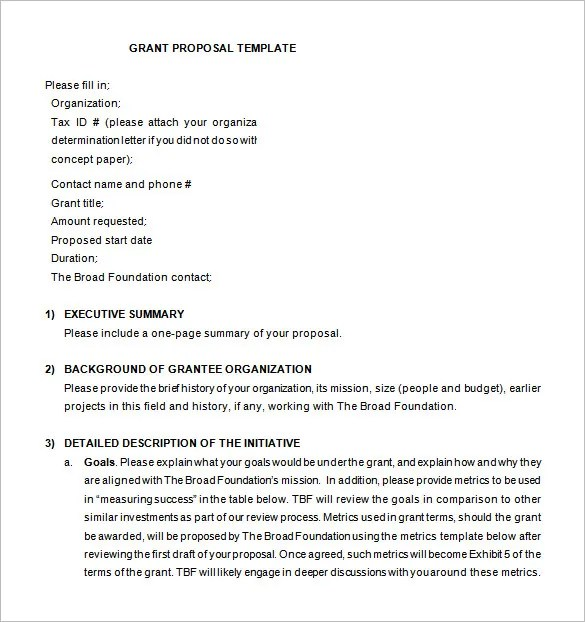 Proposal Templates u2013 140+ Free Word, PDF, Format Download! Free - funding proposal template