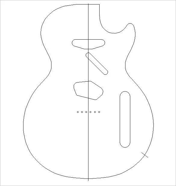 14+ Awsome Guitar Cake Templates  Designs Free  Premium Templates