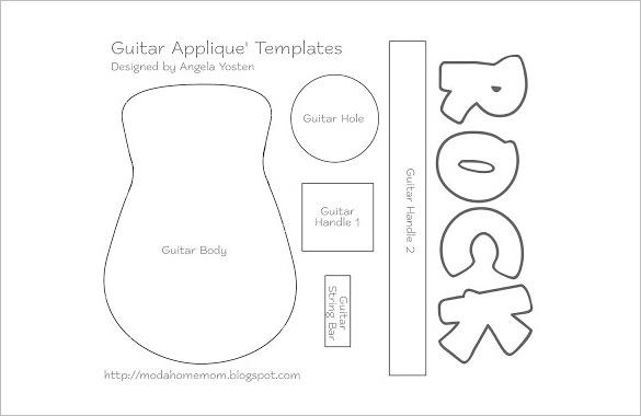 guitar cake template - Canasbergdorfbib