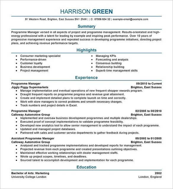Manager Resume Template \u2013 15+ Free Samples, Examples, Format - hotel manager resume samples