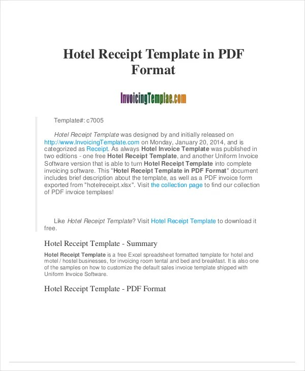 Receipt Template - 122+ Free Printable Word, Excel, AI, PDF Format - Free Download Receipt Format In Excel