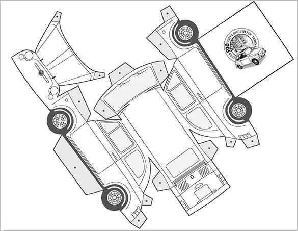 8+ Best Paper Car Templates  Designs Free  Premium Templates