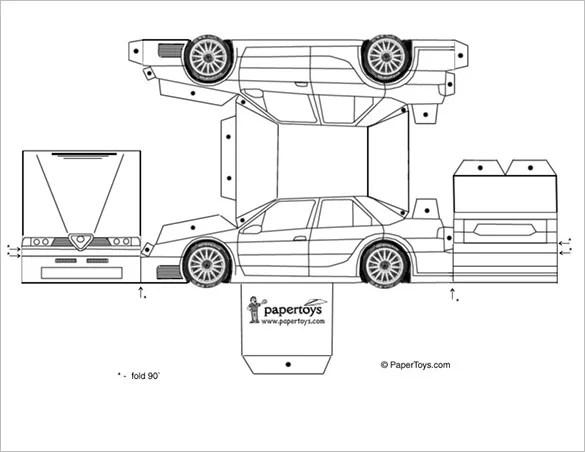 11+ Best Paper Car Templates  Designs! Free  Premium Templates