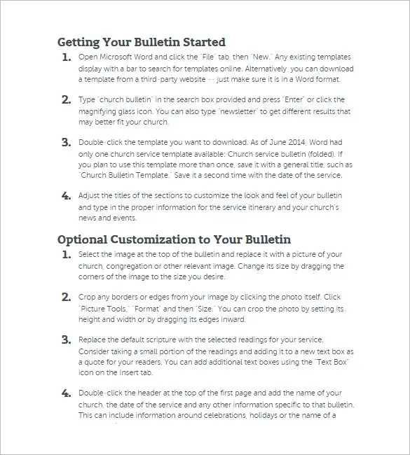 15+ Church Bulletin Templates - PSD, AI, InDesign Free  Premium