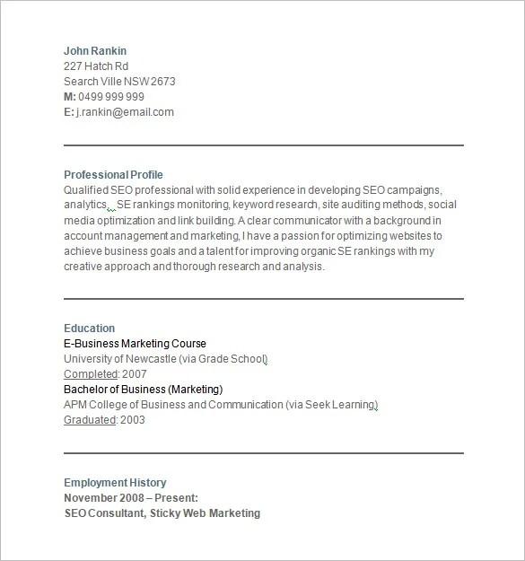 marketing resume sample writing tips resume companion marketing