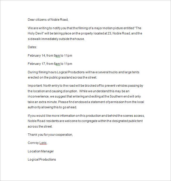 Notice Letter u2013 13+ Free Samples, Examples, Format Download - sample final notice letter