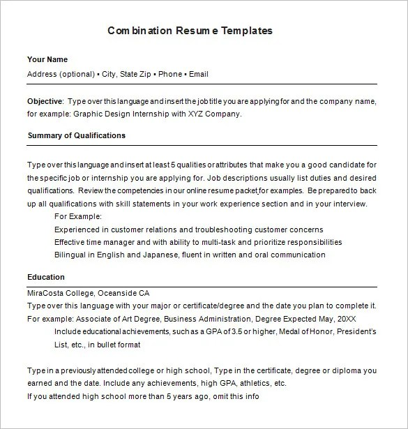 hybrid resume templates - Elitaaisushi