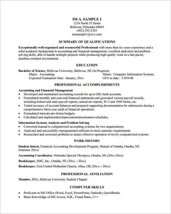Programmer Resume Template \u2013 8+ Free Samples, Examples, Format - computer programming student resume