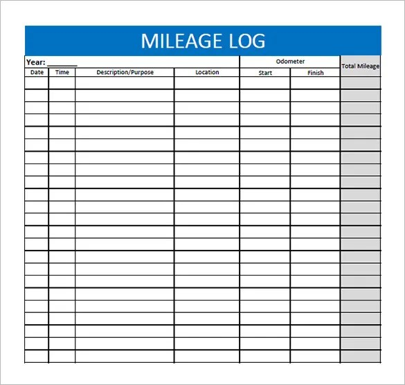 9+ Mileage Log Templates - DOC, PDF Free  Premium Templates - mileage log template