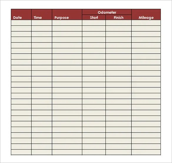 9+ Mileage Log Templates - DOC, PDF Free  Premium Templates