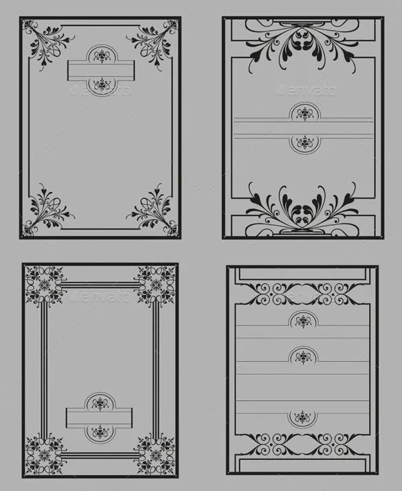 11+ Best Border Templates  Designs - PSD Free  Premium Templates - paper border templates