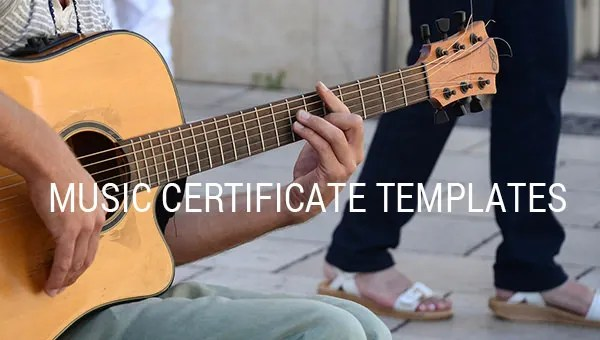 8+ Printable Music Certificate Templates - Word, PSD, AI, PDF