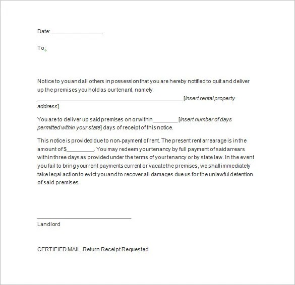 letter to vacate premises - Ozilalmanoof - notice to vacate template letter