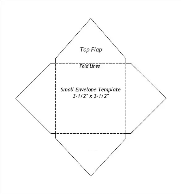 Small Envelope Templates \u2013 9+ Free Printable Word, PDF, PSD Format
